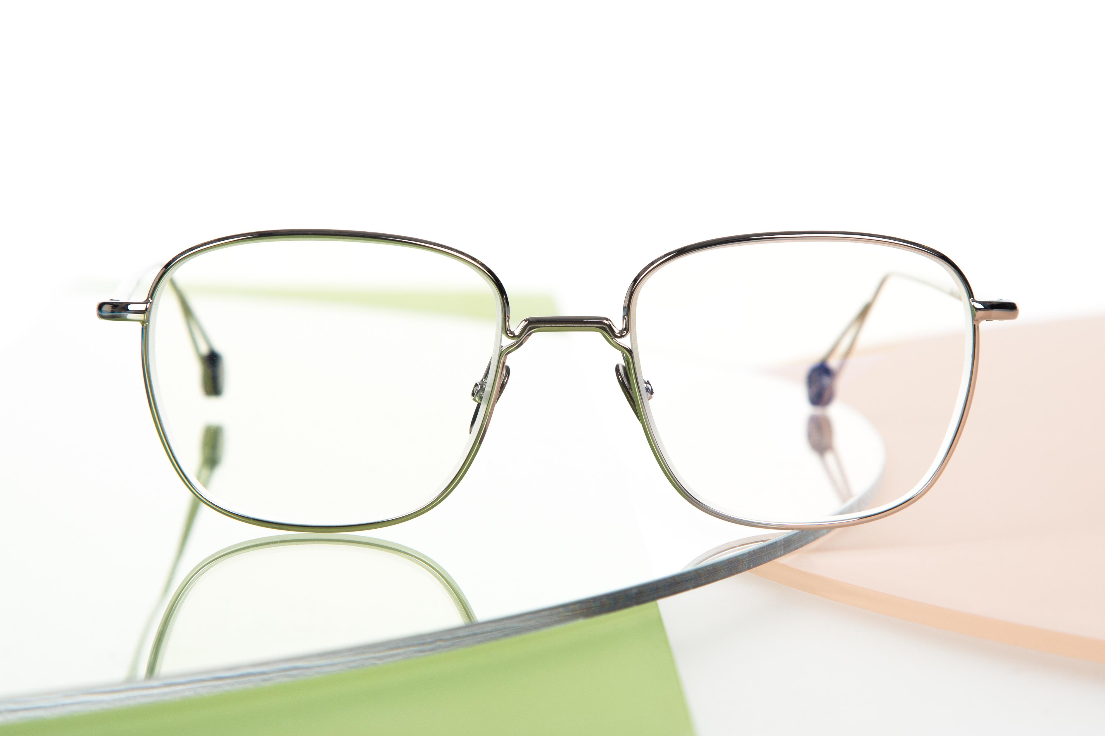 New SLEEK CONTEMPORARY MODERN Clear Lens EYE GLASSES Cool Silver Fashion Frame